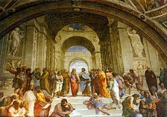 アテネの学堂 Scuola di Atene